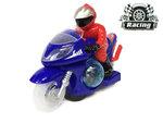 Race motor met led disco lichten en geluid effecten - speelgoed motorfiets (25CM)
