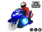 BS Race motor met led disco lichten en geluid effecten - speelgoed motorfiets (25CM)
