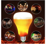 Bluetooth Speaker Music LED Light - muziek lamp met led lichtjes - infrarood remote control E27 18W