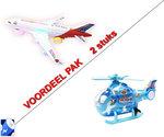 Airbus speelgoed vliegtuig + Speelgoed helikopter - incl. Batterij -Black friday deals