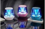 Wireless Bluetooth Mini Speaker  Draagbaar&Oplaadbaar  LED Light  -roze