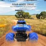 Rc Monster Rock Crawler - 2.4G 4WD Monster Truck Brushed 1:12 Blauw