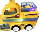 RC Graafmachine - Speelgoed Truck afstand bestuurbaar - led lichtjes & geluid