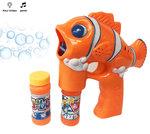 Bellenblaas pistool Fish- geluid en lichtjes- bubble gun