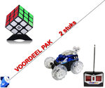 Dasher Rc Stunt auto + Rubiks Kubus 3X3X3  | Incl. Batterij