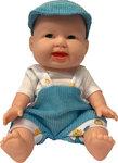 Mini Babypop met trendy outfit - 9.5CM - Trendy mini babypop