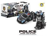 Politie Robot speelgoed auto 2 in 1 robot en auto Venom God of War