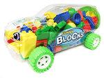 BS - Bouwblokjes in een Gave Auto Box - 98 stuks Bouwsteentjes - Fast Game (35cm)