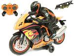 Rc motorfiets 2.4 GHZ - radiografisch motor met LED lichten en geluid (oplaadbaar) 29CM