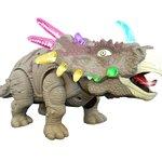 Speelgoed Dinosaurus - Triceratops - met licht en Dino geluid 35CM