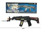 BS Machine Gun speelgoed geweer AK-47 met schiet geluiden en led verlichting 50CM