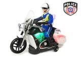 Politie motor met led flash light en politie geluiden - Police 20CM_
