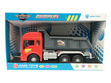 Vrachtwagen met laadbak/kiepbak - 4 soorten geluiden en lichtjes - 33CM_