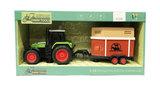 Traktor met vee aanhangwagen Livestock- maakt 3 soorten geluiden en lichtjes - 39CM (1:16) tractor_