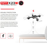 Syma X23W Drone met HD Live 720P camera - Hover mode -quadcopter zwart_