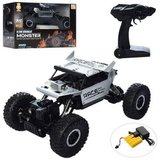 RC auto  2.4GHz Monster 4WD METAL CRAWLER 1:18 | Silver_