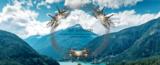 Syma X8HW Drone - FPV Live HD Camera 2.4GHZ +Hovermode systeem quadcopter_