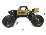RC MONSTER CAR METAL ROCK CRAWLER 4WD auto 2.4GHZ BIG FOOT - schaal 1:8 (45CM)_