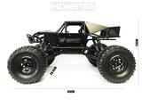 RC MONSTER CAR METAL ROCK CRAWLER 4WD auto 2.4GHZ BIG FOOT - schaal 1:8 (45CM)_