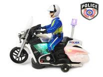 BS Politie motor met led flash light en politie geluiden - Police 20CM
