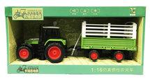 Speelgoed Tractor met vee aanhangwagen- maakt 3 soorten geluiden en lichtjes - 39CM (1:16) tractor