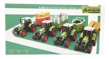 Speelgoed Tractor met vee aanhangwagen Livestock- maakt 3 soorten geluiden en lichtjes - 39CM (1:16) tractor