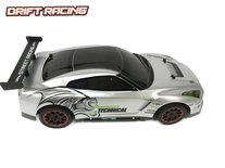 Rc drift auto - 3D light - oplaadbaar - 43CM - 1:10 zilver