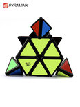 Pyraminx kubus - Qiyi cube breinbreker - kubus in de vorm van piramide - 9x9x9cm