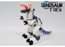 Robot Tyrannosaurus Rex - kan bewegen en lopen - met led lichtjes en dino geluiden - Dinosaurus T-REX 37.5CM