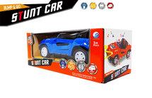 Stunt auto speelgoed - Super Max - acrobatisch beweging met licht en geluid (19CM)