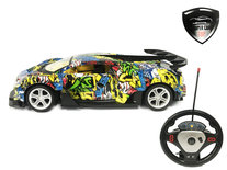 Rc sport auto speelgoed met deuren open en dicht op afstand - oplaadbaar - 33CM  schaal 1:14