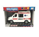 Ambulance speelgoed met licht en geluid - City Lights 22CM
