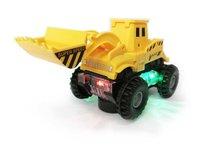 Speelgoed Graafmachine - Led lichtjes en muziek + Schoolbus met Disco Led Lichtjes en Muziek    Incl. Batterij