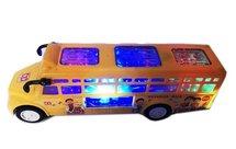 Speelgoed schoolbus met Disco Led Lichtjes en Muziek + Future Gun speelgoed met lichtjes,tril functie   Incl. Batterij