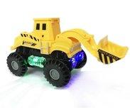 Rc intelligent Truck + Speelgoed Graafmachine - Led lichtjes en muziek  Voordeel Pak 2 Stuks  | Incl. Batterij