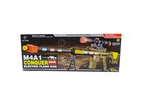 M4A1 CONQEUR Flash GUN speelgoed geweer - met schietgeluiden en led lichtjes - 83CM