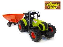 Tractor 2in1 werkvoertuig speelgoed - met geluid en licht - tank en laadbak -45CM