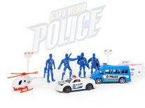 Politie speelfiguren set - Police City Hero - speelgoed politie set 11 stuks