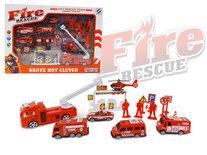 Brandweer speelfiguren set - Fire Rescue - speelgoed Brandweer set 17 stuks