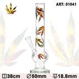Weed Bong pipe - Leaf  Bouncer Multi Leaf Glass Bong - H:38cm - Ø:50mm - Socket:18.8mm glazen bong