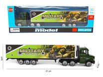 Speelgoed Vrachtwagen met oplegger van military - Die cast model voertuigen - 1:87