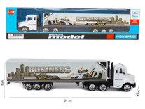 Vrachtwagen met oplegger van business - Die cast model voertuigen - 1:87