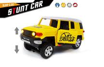 Stunt auto speelgoed - Super Max - Hummer met acrobatisch beweging -Led licht en geluid (20CM)