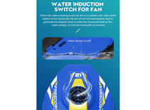 BS Rc Hovercraft A1 - 2.4G 4CH RC Twin-propeller boot - 50 meter - 21CM