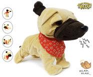Schattig blaffende speelgoed hondje - Met 7 verschillende kunstjes op geluid/aanraken - Voice Control Pets clap dog- 29CM