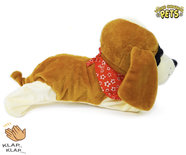 Schattig blaffende speelgoed hondje - Met 7 verschillende kunstjes op geluid/aanraken - Voice Control Pets - 29CM