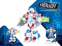 Robot met geluid en led lichtjes - Space Fighter Spin robot 23CM