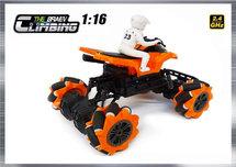 Rc Climbing QUAD 1:16 2.4ghz - BRAVE speelgoed quad motor (oplaadbaar) 25CM