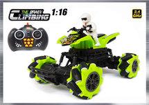 RC Climbing Car QUAD 1:16 2.4ghz - BRAVE speelgoed quad (oplaadbaar) 25CM