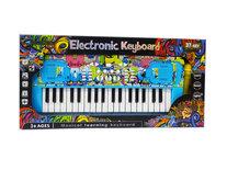 Speelgoed Keyboard piano met 37 tonen met microfoon - 45 CM